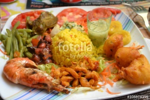 Assiette créole Fotolia