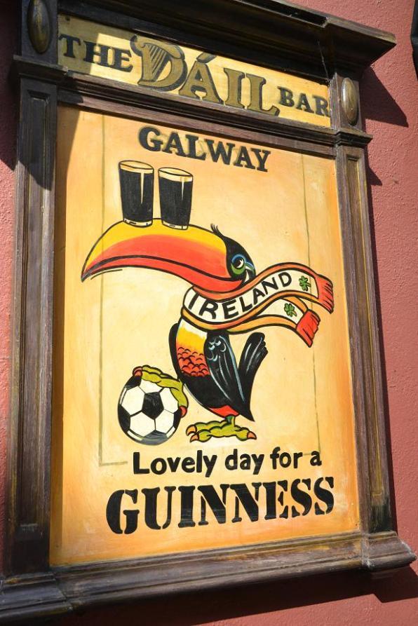 Panneau Guiness à Galway