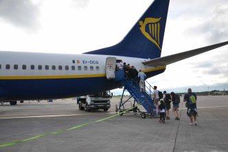 Avion Ryanair du retour à Paris