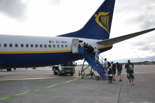 Avion Ryanair du retour à Paris